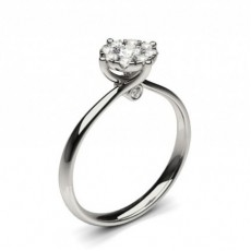 White Gold Cluster Diamond Engagement Rings