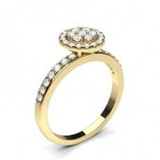 Yellow Gold Cluster Engagement Rings