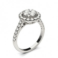 Platinum Engagement Cluster Rings
