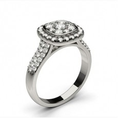 Cluster Diamond Engagement Rings
