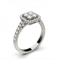 Silver Cluster Diamond Rings