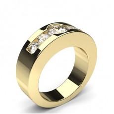 Gelbgold 5 Diamanten Diamantringe