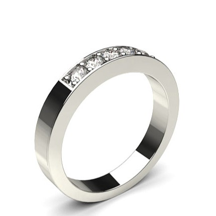 Pave Setting Plain Five Stone Ring