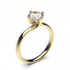 Yellow Gold Classic Solitaire Diamond Engagement Rings