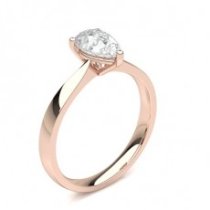 Pear Rose Gold Classic Solitaire Engagement Rings