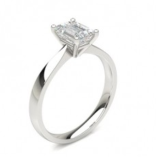 Emerald  Solitaire Diamond Engagement Rings