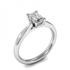 Emerald Platinum Diamond Rings