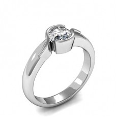 Semi Bezel Setting Diamond Engagement Rings