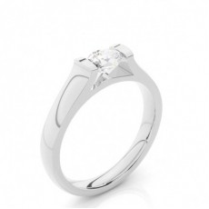 Tension Setting Oval Diamond Plain Engagement Ring