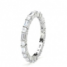 Mixed Shapes Platinum Full Eternity Diamond Rings