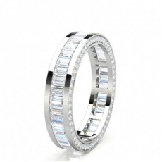 Mixed Shapes Platinum Anniversary Diamond Rings