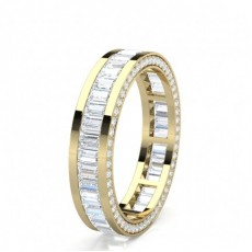 Mixed Shapes Yellow Gold Anniversary Diamond Rings