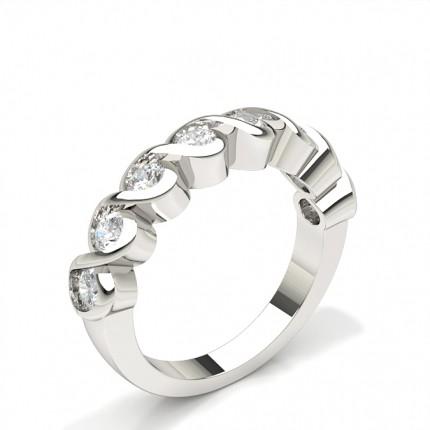 Bezel Setting Half Eternity Diamond Ring