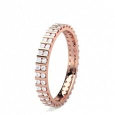 Round Rose Gold Full Eternity Diamond Rings