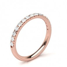 Illusion Setting Half Eternity Diamond Ring