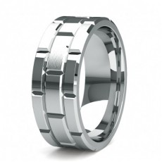 8.50mm Slight Comfort Fit Mens Plain Wedding Band