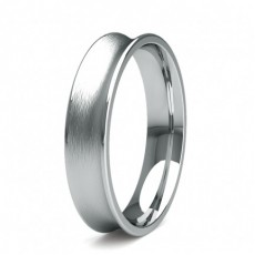 5.00mm Court Profile Comfort Fit Classic Plain Wedding Band
