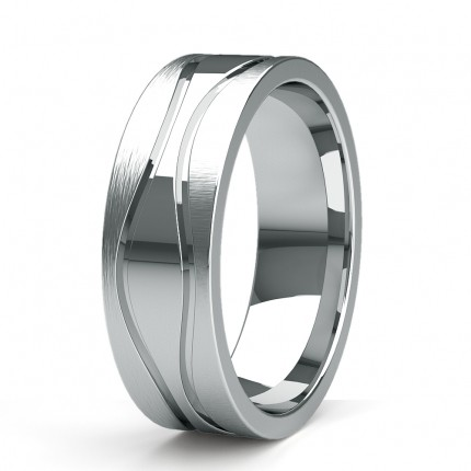 7.00mm Slight Comfort Fit Mens Plain Wedding Band