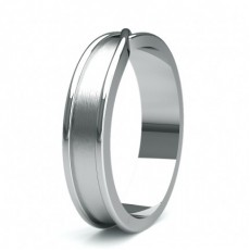 5.20mm Court Profile Comfort Fit Mens Plain Wedding Band