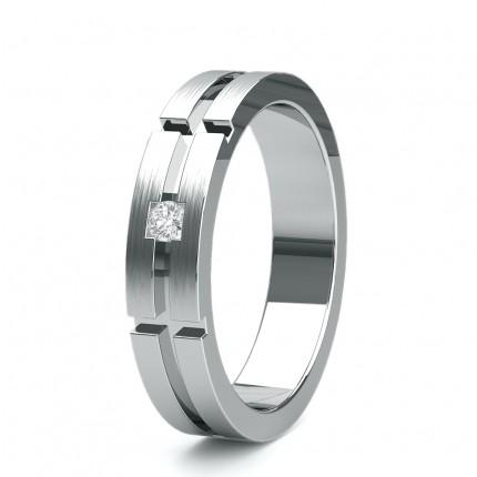5.00mm Studded Slight Comfort Fit Diamond Wedding Band