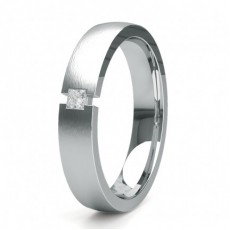 4.50mm Studded Slight Comfort Fit Diamond Wedding Band