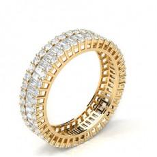 Yellow Gold Full Diamond Eternity Rings