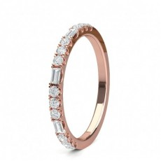 Mixed Shapes Rose Gold Anniversary Diamond Rings