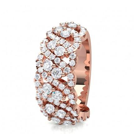 3 Prong Setting Diamond Fashion Ring