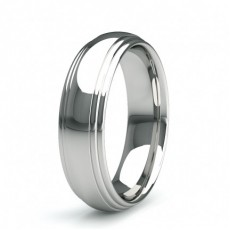 5.50mm Court Profile Slight Comfort Fit Classic Plain Wedding Band