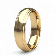 Yellow Gold Mens Contemporary Wedding Bands Bands
