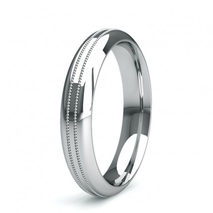 4.00mm Court Profile Slight Comfort Fit Plain Wedding Band
