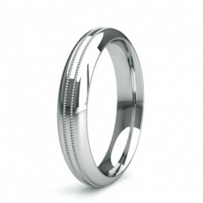 4.00mm Court Profile Slight Comfort Fit Plain Wedding Band