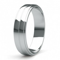 5.40mm Slight Comfort Fit Mens Plain Wedding Band