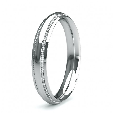 3.50mm Slight Comfort Profile Plain Wedding Band