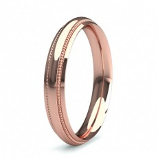 3.50mm Slight Comfort Profile Plain Wedding Band