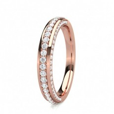 2.30mm Studded Comfort Fit Diamond Wedding Band