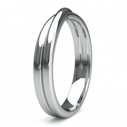 3.60mm Slight Comfort Fit Plain Shaped Wedding Band