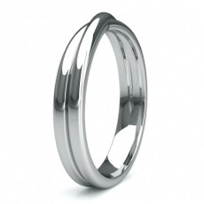 3.60mm Slight Comfort Fit Plain Shaped Wedding Band