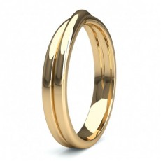 Yellow Gold Contemporary Wedding Bands Bands