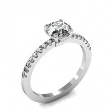 Round White Gold  Ready to Deliver Diamond Engagement Rings