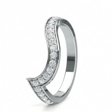 2.40mm Studded Slight Comfort Fit Diamond Shaped Band