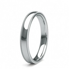 3.00mm Slight Comfort Fit Plain Wedding Band