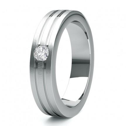 5.50 Studded Flat Profile Mens Diamond Wedding Band