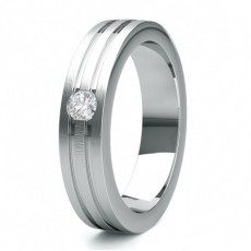 5.50 Studded Flat Profile Mens Diamond Wedding Band