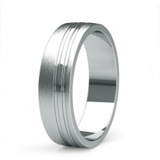 6.00mm Flat Profile Mens Plain Wedding Band