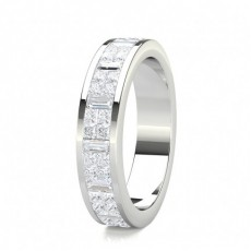 Mixed Shapes White Gold Diamond Rings