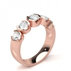 Rose Gold 5 Stone Diamond Rings