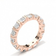 Princess Rose Gold Full Eternity Diamond Rings