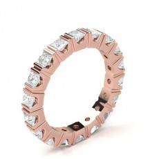 2 Prong Setting Full Eternity Diamond Ring
