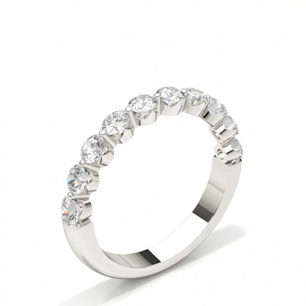 2 Prong Setting Half Eternity Diamond Ring